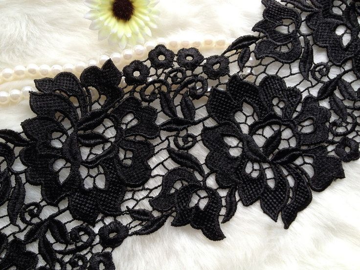 Black Lace Fabric, Chic Crocheted Lace Fabric, Wedding Gown Supplies, Fashion Design, Jewelry Supply by lacelindsay on Etsy https://www.etsy.com/listing/157915382/black-lace-fabric-chic-crocheted-lace