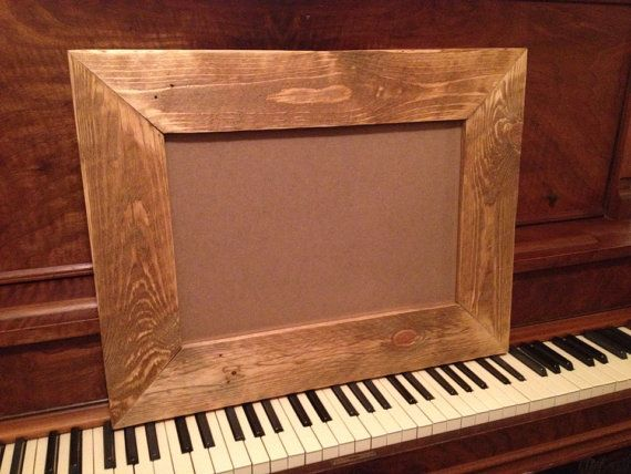 12x18 upcycled pallet wood picture frame w glass