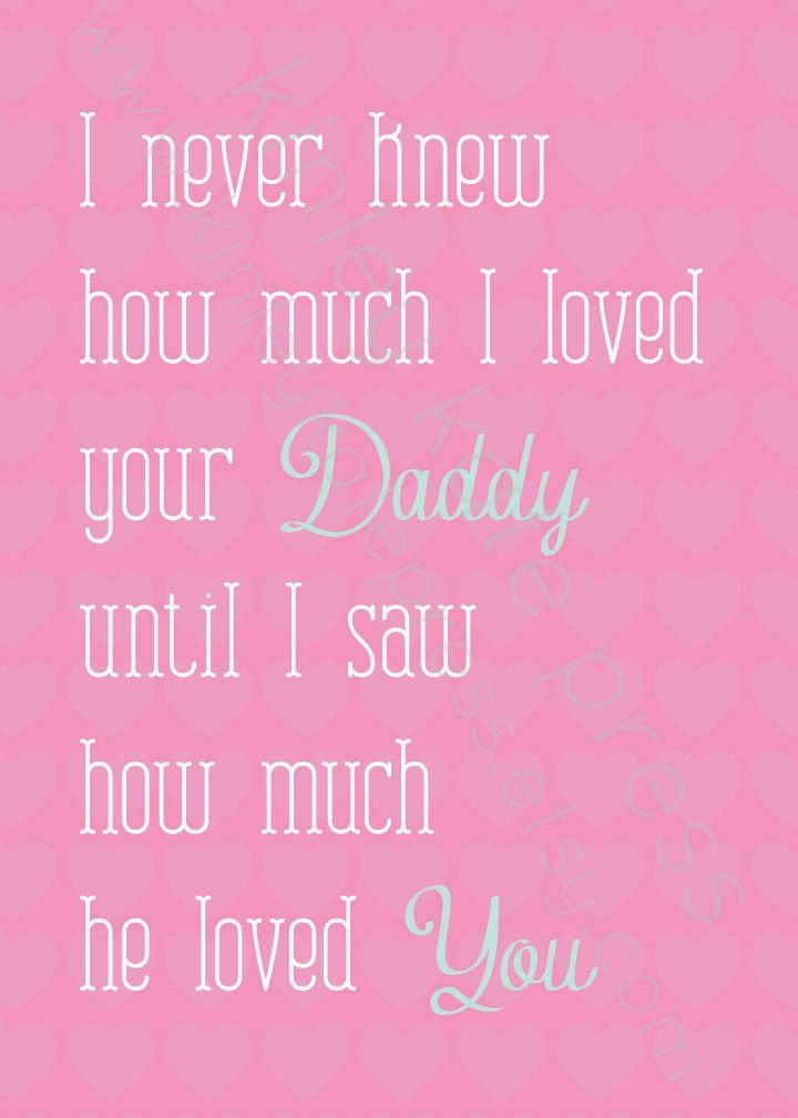 So true!  Nothing like seeing the man you love fall in love with your child.