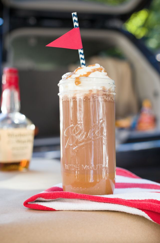 Inspired by OSU's mascot, Brutus the Buckeye, and the Reese's Cup-like dessert the state is known for, this peanut-butter-and-bourbon-spiked cocktail will warm you up even on the coldest home games at your tailgating parties this fall.