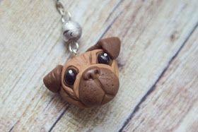 Cute pug :3 made out polymer clay
