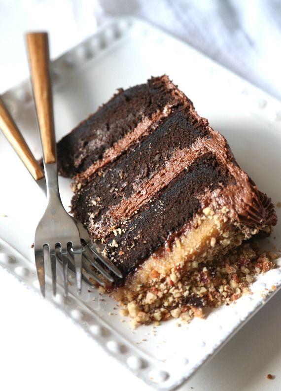 Bacon Pecan Crumble Chocolate Cake