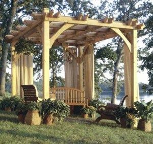 IDEA: Building a garden pavilion. These structures are great for everything from