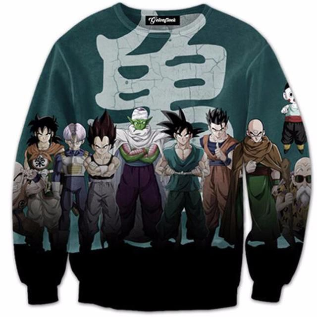 2744cd0a681c Dragon Ball Super 3D Print Pullover Sweatshirt ( 12 Styles ...