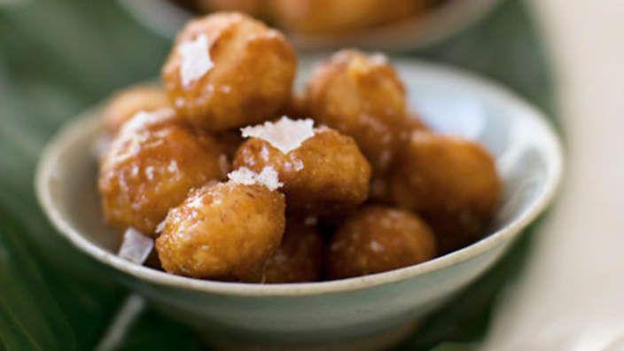 Sweet-and-salty toffeed macadamias recipe : SBS Food  These are sooooo good!