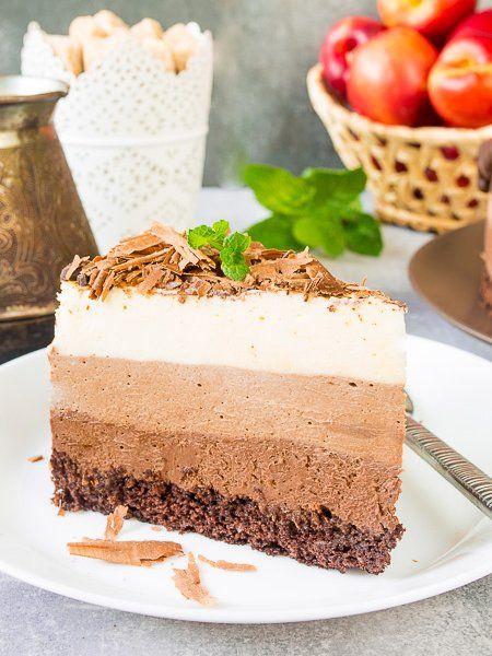"Cake ""Three Chocolates"""