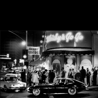 Outside the Whiskey A Go Go.: Julian Wasser, Johnny Rivers, Losangeles, Los Angeles, 1964, Baby Boomer, Photo, Whisky A Go Go