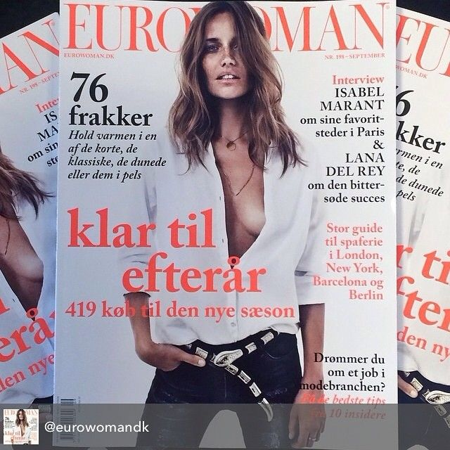 Hello-miss-front-page-wearing-our-necklace @mariagregersen_ is rocking our MIX CHAIN in the september issue @eurowomandk #weloooove #grateful #frontpage #septemberissue #mixchain #necklace #eurowoman #lulubadulla #jewelry #danish #contemporary #design #danishdesign #fashion #thankyouthankyouthankyou