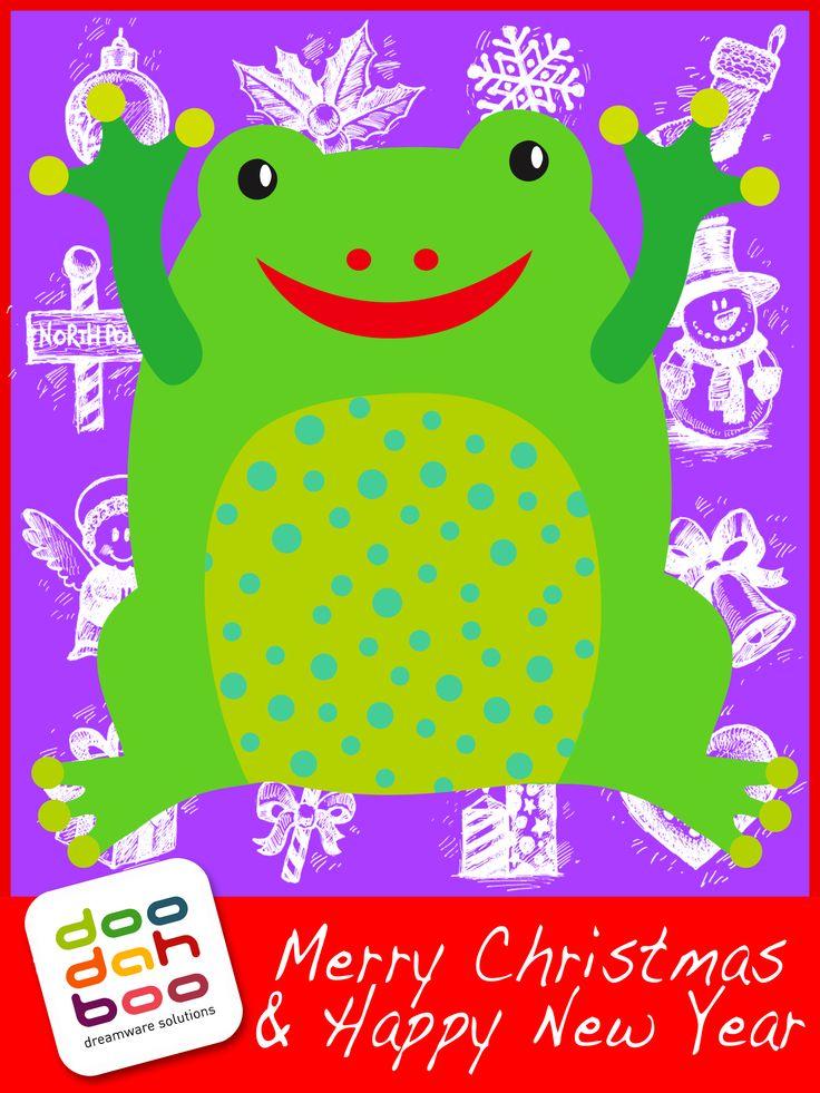 Frog Christmas Greetings Card