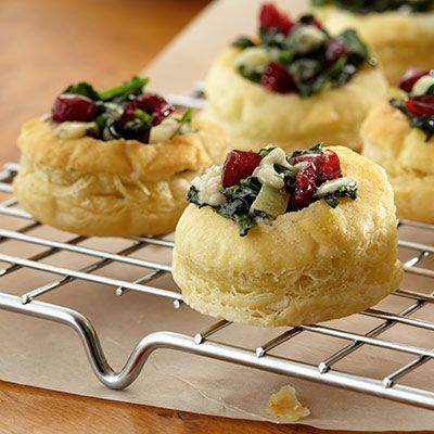 Using frozen puff pastry sheets makes assembling these restaurant-worthy blue cheese puffs a little easier.