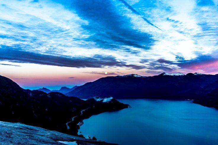 Summer Solstice Moon Set In Squamish, British Columbia [oc] [6000 X 4000]