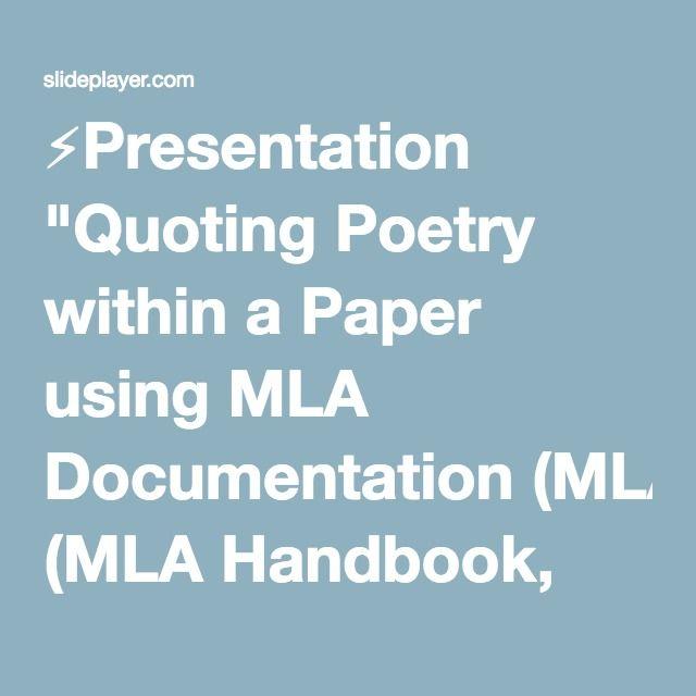 The 25+ best Mla handbook ideas on Pinterest Text structure - website quotation