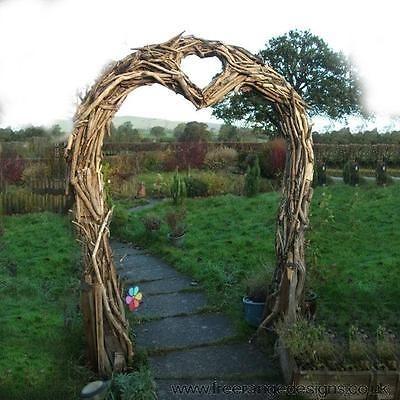 Driftwood Wedding Arch - Heart Shaped Garden Arch - Perfect for Climbing Plants