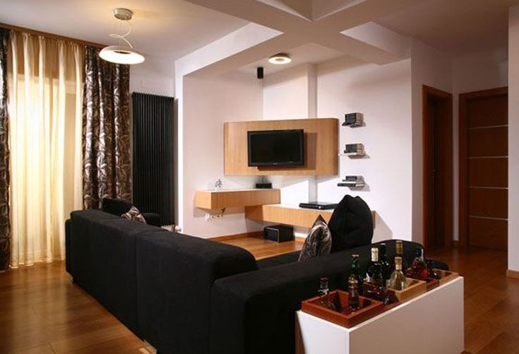 album 18 tv accroch e au mur ou int gr e s rie 1 id es pour l 39 appartement appartement. Black Bedroom Furniture Sets. Home Design Ideas