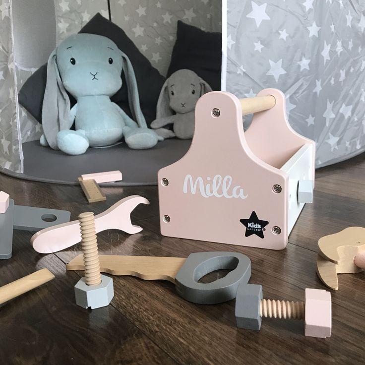 Kids Concept | Werkzeugkasten rosa | Personalisiert | Kidslino