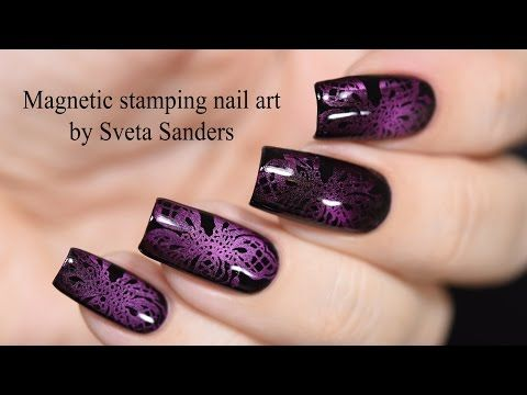 Magnetic Stamping Nail Art Tutorial - http://www.nailtech6.com/magnetic-stamping-nail-art-tutorial/