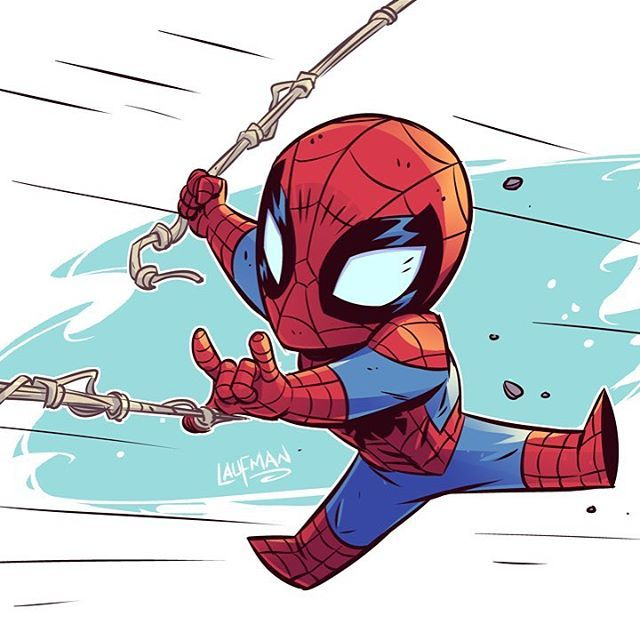 """6,280 mentions J'aime, 26 commentaires - Derek Laufman (@dereklaufman) sur Instagram : """"New Spider-Man Homecoming trailer looks awesome! Inspired me to draw more Spidey action! Can't wait…"""""""