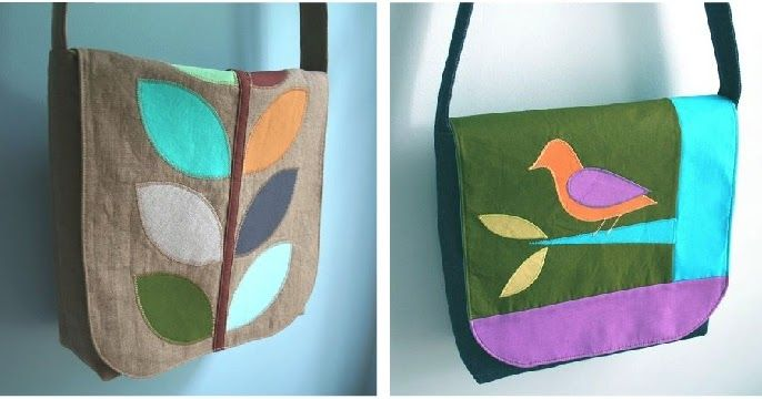 Jamie's on the left, Chelsea's on the right. This tutorial does not include the flap designs, alas. As promised, here is the basic bag ...