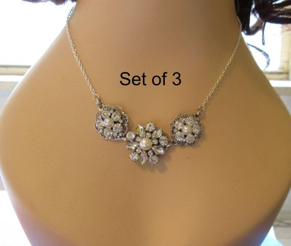 Hey, I found this really awesome Etsy listing at https://www.etsy.com/listing/165029727/set-of-3-bridesmaids-statement-necklace