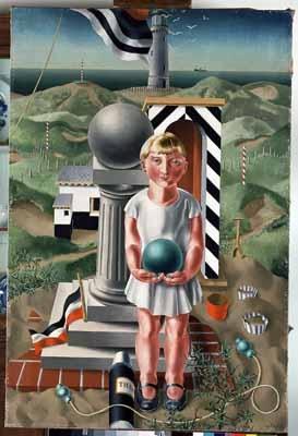 """Meisje met bal (Girl with Ball), 1925"" / Carel Willink (1900-1983)…"