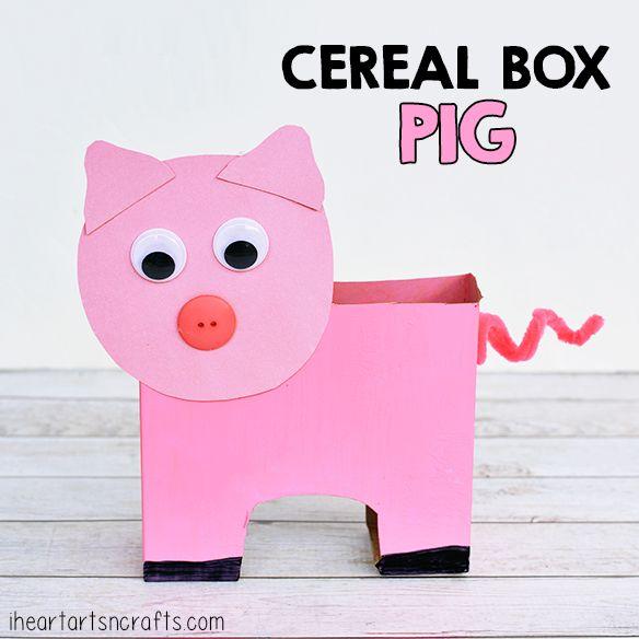 sc 1 st  Pinterest & Cereal Box Pig Craft For Kids | Pig crafts Cereal and Box Aboutintivar.Com