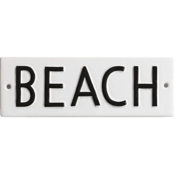 Rosanna BEACH Vintage Word Play Wall Décor In Porcelain ($20) ❤ liked on Polyvore featuring home, home decor, wall art, fillers, words, backgrounds, text, quotes, phrase and saying