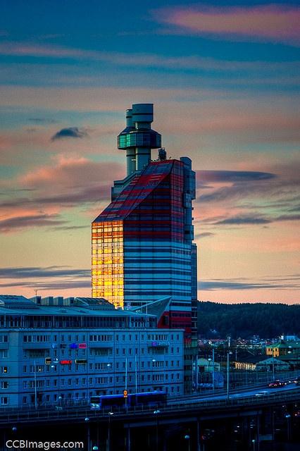 """The Lipstick Building"" Skanskaskrapan (The Skanska Scraper),   Architect: Ralph Erskine   Göteborg Sweden via flickr"