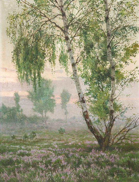 Brzozy i wrzosy - Józef Rapacki (1922)