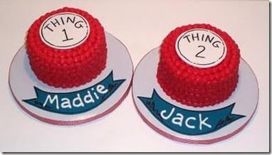 cakes twin-s-1st-birthday: Smash Cakes, 1St Birthday, Thing 1, Party Ideas, Twins 1St, Birthday Cakes, Birthday Party, Birthday Ideas