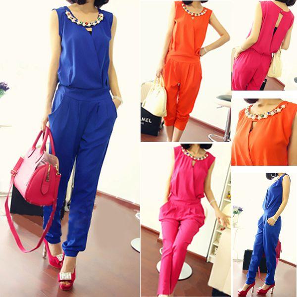 Alibaba グループ | AliExpress.comの ジャンプ スーツ & ロンパース からの ハロー! 私たちの店へようこそ!品質が第一最高のサービスと。 顧客すべては我々の友人。真新しい100%と高品質。材料: シフォン色:オレンジ、 青、 pink(映像ショーとして)サイズ: m/l/xlサイズバスト( cm)ウエスト弾性( c 中の ファッション女性レディース ノースリーブ ボディ コン ジャンプ スーツ クラブ ウェア m xl