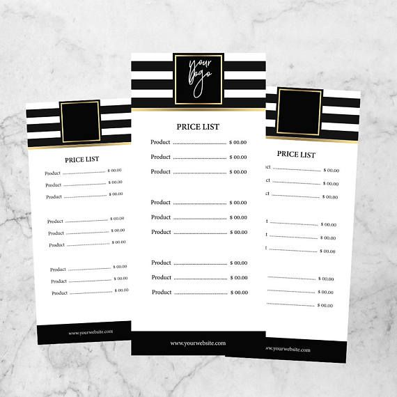 Makeup Pricing Template Pricing Guide Template Pricing List