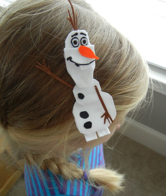 Olaf congelés Snowman ruban pince à cheveux sculptés