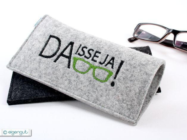 Brillenetui für Deinen vergesslichen Freund, der gerne mal seine Brille verlegt / glasses case for a forgetful friend by eigengut via DaWanda.com