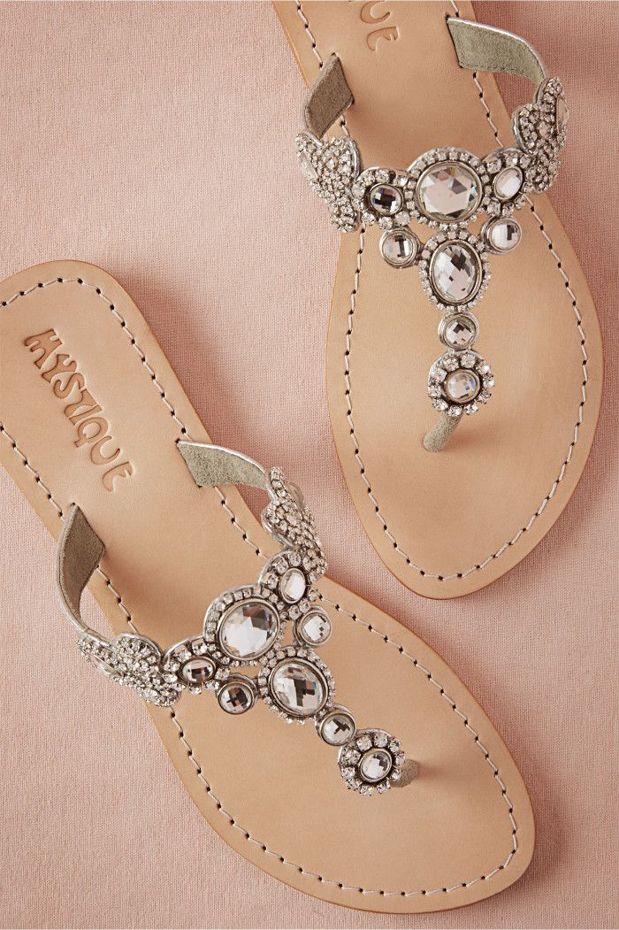 jeweled sandals for a beach wedding from BHLDN