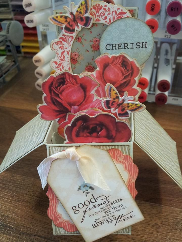 box card class at makeApage Scrapbooking
