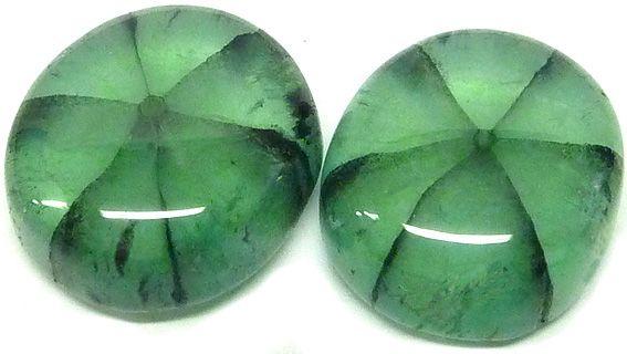 Trapiche Emerald pair from Colombia 21.40ct / paire d'Emeraude Trapiche de Colombie 21,40ct - www.gems-plus.com