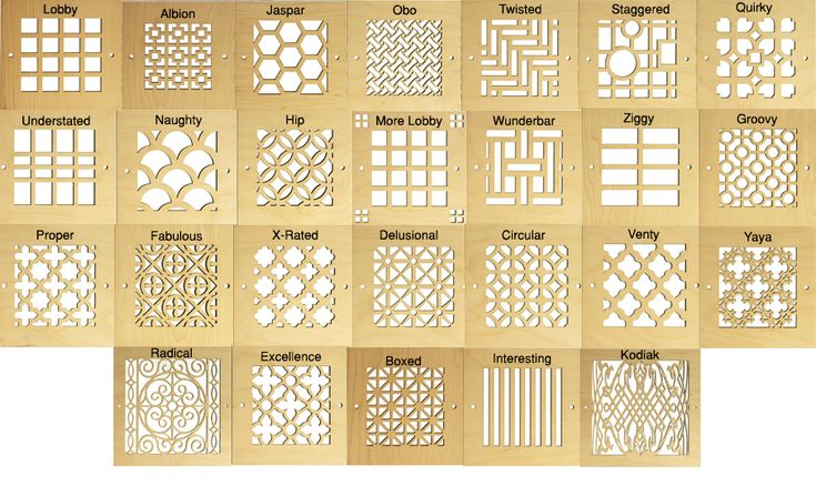 Wood Design Pattern Cut Grilles Air Return Decorative