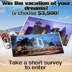 Here's Your Chance To Win A Dream Vacation Or $3,500! - This is unbelievable! Consumer Expressions is giving away either a dream vacation or $3,500! You are free to choose. All you gotta do is take a short survey here in order to enter this sweepstakes. Best of luck!