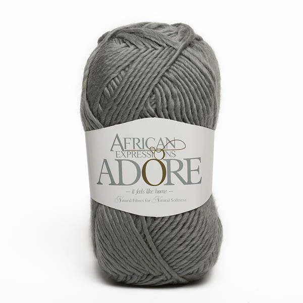 Colour Adore Grey, Chunky weight,  African expressions 8294, knitting yarn, knitting wool, crochet yarn, kid mohair yarn, merino wool, natural fibres yarn.