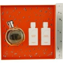 EAU DES MERVEILLES by Hermes SET-EDT SPRAY 1.6 OZ & BODY LOTION 1.35 OZ & SHOWER GEL 1.35 OZ for WOMEN