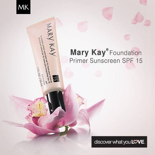Mary Kay Foundation Primer Sunscreen Broad Spectrum SPF 15 is lightweight & glides on easily to fill in imperfections! http://www.marykay.com/LaShon