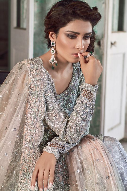 Shot in a washed-out derelict building and modeled by the ever so gorgeous Aiza Khan, Sana Abbas's new Bridal collection is breathtakingly beautiful. Soft and feminine- each piece holds a lus…