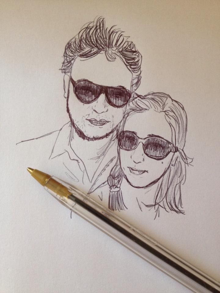 Retrato de mi pareja y yo.