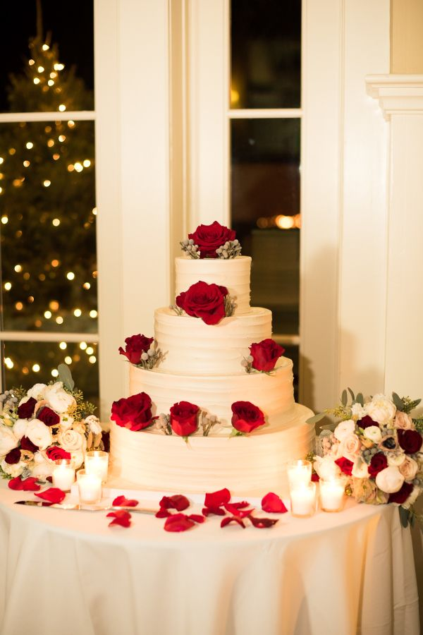 Wedding Cake with Red Flowers 1470 best