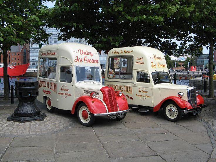 Liverpool Ice Cream Vans Albert Dock UK