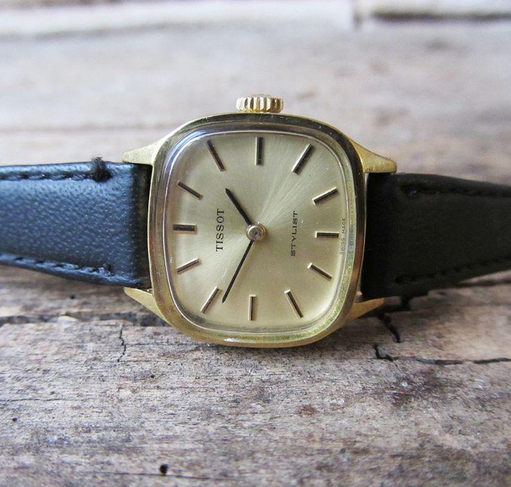 Vintage Women's watch Tissot Stylist Gold Plated Watch Swiss Made Watch Working Ladies wrist Watch Retro Watch Old Swiss Watch  Original by TedDiscovery on Etsy