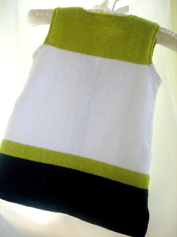 Venta de punto bebé algodón bebé vestido por Svetlanababyknitting
