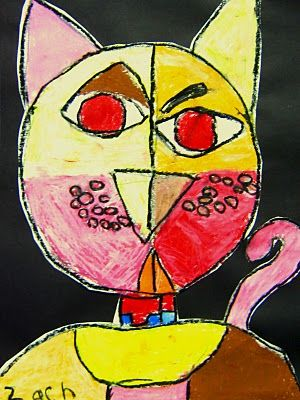 Love these Paul Klee inspired cats!  can't wait to try this!