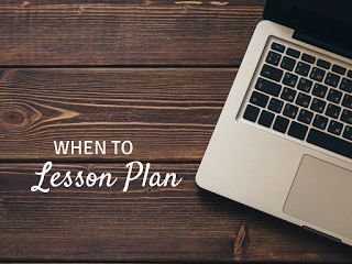 When to lesson plan: ideas for the music teacher