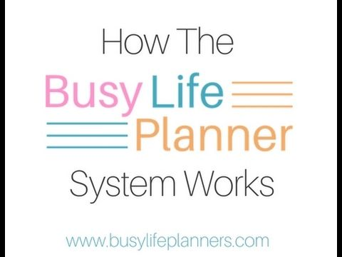 How the Busy Life Planner system works - Here's how this amazingly versatile printable weekly planner works.